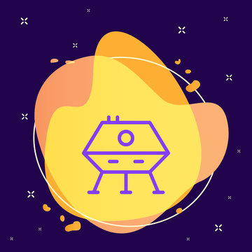 Lunar module icon - Vector. Spage concept illustration.abstract vector background