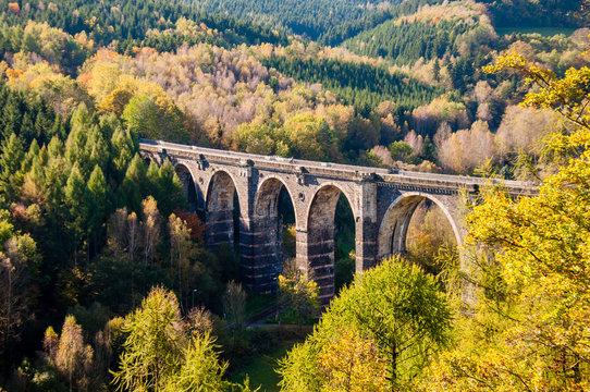 ehemalige Eisenbahnbrücke, Viadukt - Heztdorf, Chemnitz, Erzgebirge, Sachsen
