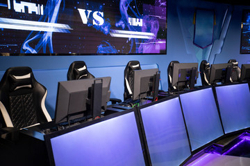 Computers in esports arena