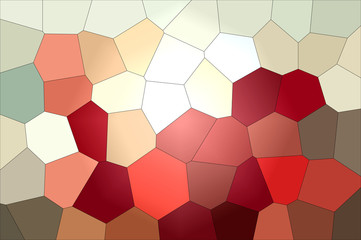 Red color gradient mosaic pattern