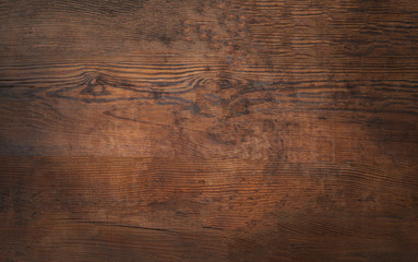 Poster Wood Old brown bark wood texture. Natural wooden background.or cutting board.