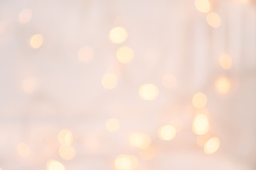 Christmas light with bokeh.Holidays,Christmas and New Year concept. Scandinavian Style.New Year and Christmas poster with copy space