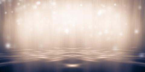 In de dag Licht, schaduw soft Yellow-brown studio room background, brown floor backdrop with spotlight