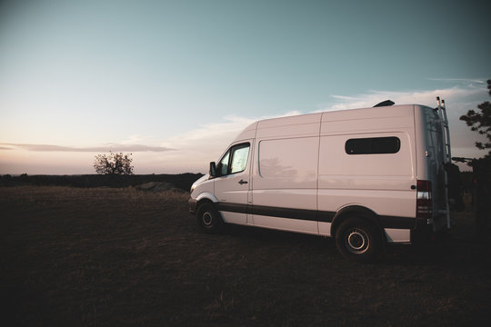 Sunrise With Sprinter Van