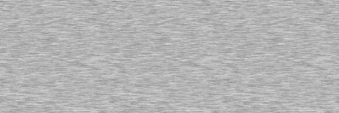 White Grey Marl Heather Border Texture Background. Faux Cotton Fabric with Vertical T Shirt Stripe. Vector Pattern Design. Light Gray Melange Space Dye Edging Trim for Textile Effect. Vector EPS 10
