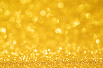 Abstract christmas blurred gold glitter background