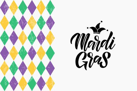 Mardi Gras lettering