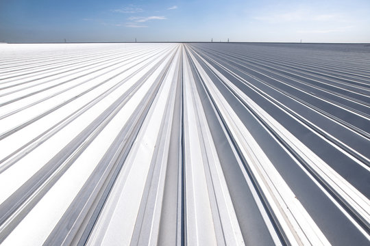 Perspective of Metal sheet for industrial building and construction under the sky