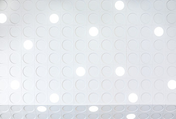 Bright LED light circle shape lamp trendy design build in wall for modern spotlight interior decorate white art studio architecture indoor room Fototapete