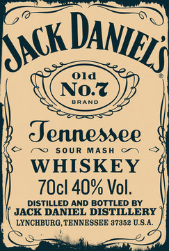 vintage label of the whiskey Jack Daniels No. 7