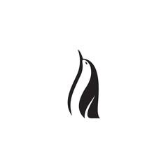 penguin vector silhouette logo template