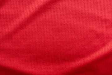 Custom vertical slats sports with your photo sports clothing fabric football jersey texture top view red color