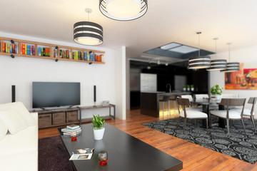 Modern Apartment Area - 3d visualization
