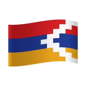 Waving flag of Nagorno-Karabakh.