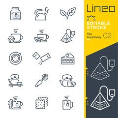 Lineo Editable Stroke - Tea Ceremony line icons