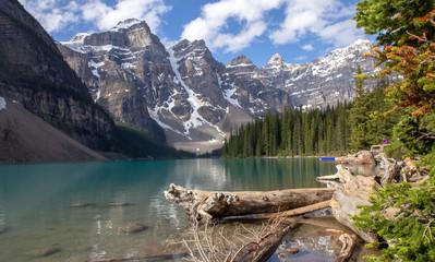 Kanada, Moraine Lake im Banff Nationalpark, Rocky Mountains
