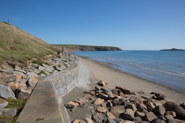 Wall Mural - Beach and coast view to east Aberdaron Llyn Peninsula Gwynedd Wales