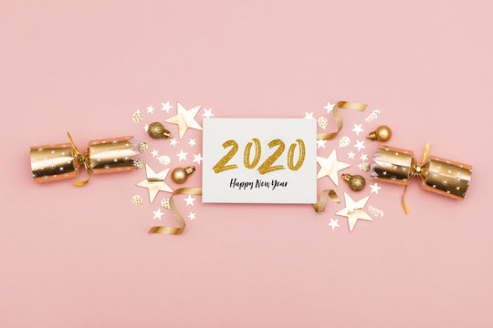 2020 Happy New Year party background