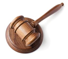 judges gavel isolated on white