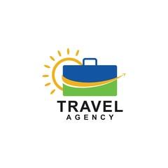 travel agency logo concept, design vector icon, holiday logo template