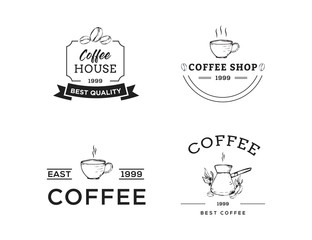 Set of Coffee Logo, Badges, Emblem