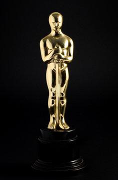 Golden replica of an Oscar
