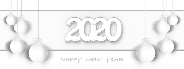 2020,happy new year , banner