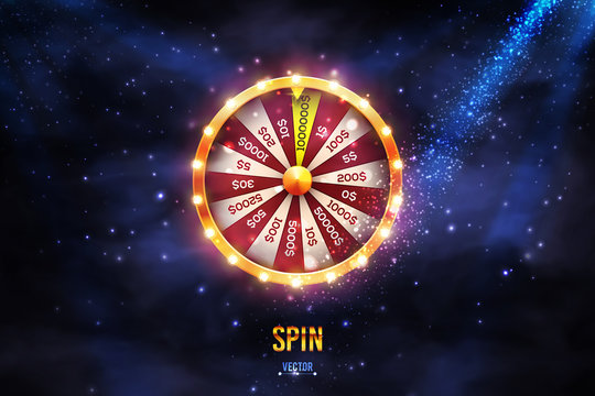 Realistic 3d spinning fortune