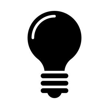 Bulb Vector illustration. Quality design element Glyph Style. Editable stroke. Vector