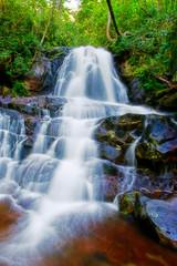 Door stickers Chocolate brown Laurel Falls in Great Smokey Mountain National Park