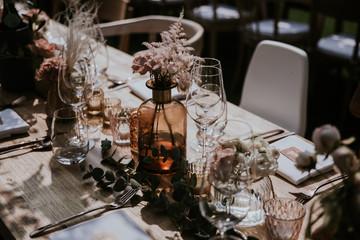 boho wedding table decoration