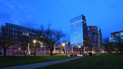 Regina, Canada downtown at dusk
