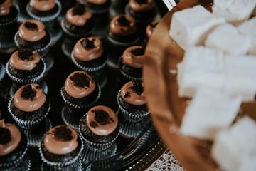 mini muffins desert on a wedding