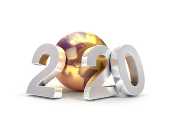 2020 Worldwide greeting symbol