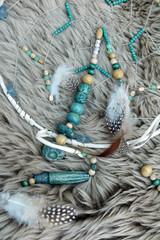 native bead work - indianische Perlenarbeit