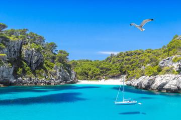 Cala Macarelleta Beach of Menorca Island