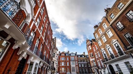 Poster London Beautiful Georgian buildings in Marylebone area of London's West End