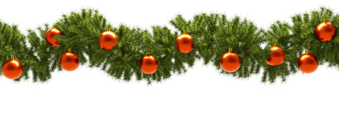 Christmas Banner with White Background