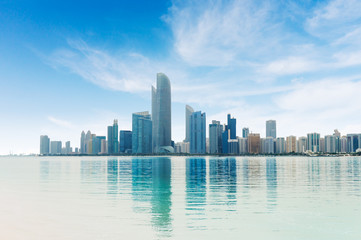 Photo sur Toile Abou Dabi Abu Dhabi City Panorama