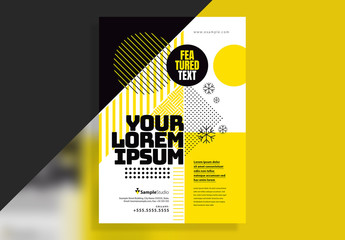 Yellow and Black Event Poster Layout