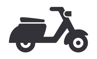 Scooter or moped vector illustration icon Wall mural