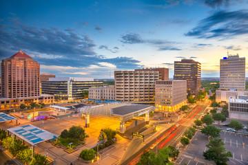 Fototapete - Albuquerque, New Mexico, USA downtown cityscape