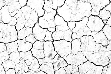 Dry cracked soil texture, background barren of drought lack of water of nature white. Fototapete