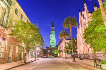 Fotomurales - Charleston, South Carolina, USA view of the French Quarter