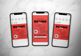 Boxing Day Event Social Media Post Layout Set