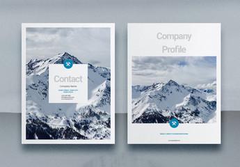 Blue Company Profile Layout