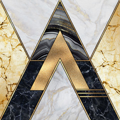 Wall Murals Geometric abstract geometric background, art deco pattern, modern mosaic inlay, creative textures of marble granite agate and gold, artistic artificial stone, marbled tile surface, fashion marbling illustration