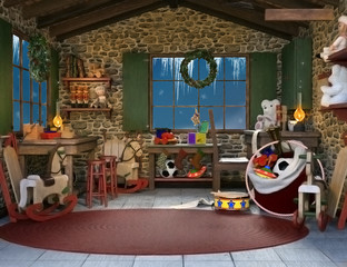 Father Christmas toys workshop