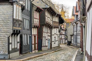 Historischer Straßenzug in der Altstadt von Goslar