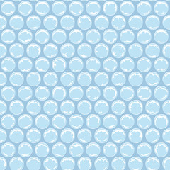 Seamless pattern with plastic bubbles, packaging bubble wrap. Colored vector background.